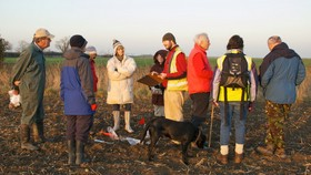 preparing to fieldwalk